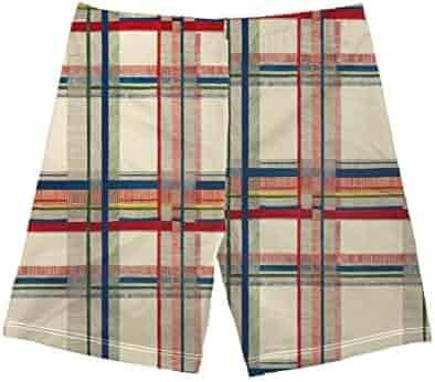 32d5c5960e Baby Boys Quick Dry Beach Swim Trunks Fashion Plaid Print Board Shorts Kids  Swimshorts