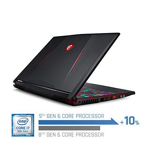 "MSI GL63 9SDK-614 15.6"" Gaming Laptop, 144Hz Display, Intel Core i7-9750H, NVIDIA GeForce GTX1660Ti, 16GB, 256GB NVMe SSD + 1TB HDD"