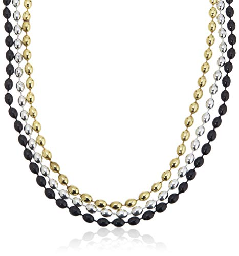 Amscan Bead Necklace, Party Accessory, Black, Silver, ()