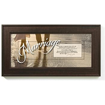 Marriage Prayer Words of Grace 8 x 16 Wood Wall Art Frame Plaque