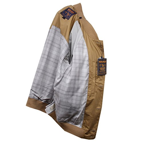 Beige Men Woolrich Cotton Summer E7214 Uomo Jacket Giubbotto Bomber wqWxfXH8
