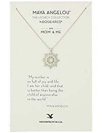 """Dogeared Maya Angelou 2.0 """"My Mother Is So Full of Joy."""" Mom & Me Pendant Necklace"""