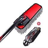 RUIX Car Wash Brush/Brush Mop/Sweeping Dust/Rotatable / Car Wash Supplies,Red