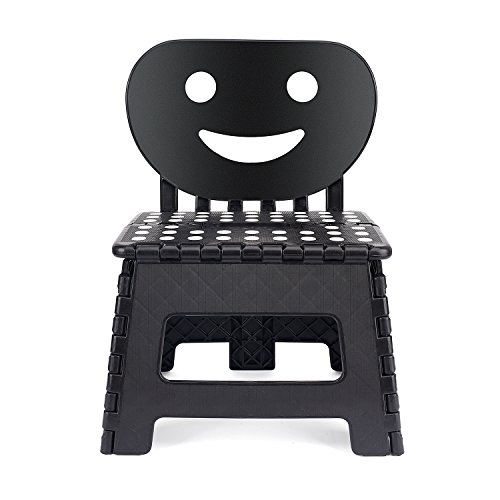 Acko Small Folding Step Stool with Back Support for Children,9 inch Perfect Height for Toddler Toilet Training Mommy Helper