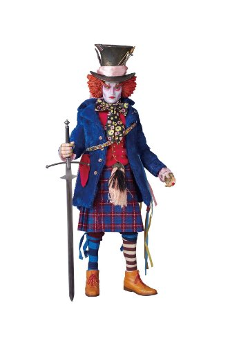 Alice in Wonderland MAD Hatter RAH (Real Action Heroes) Blue Jacket Version Figure by Medicom Toy -