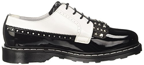 Cult Sabbath Low 1342, Zapatos de Cordones Derby para Mujer Multicolore (Black/White)