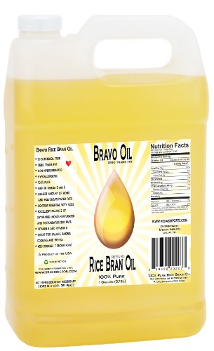Bravo Oil - Rice Bran Oil, 1 Gallon (Best Value) Made in USA