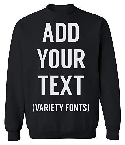 TEEAMORE Men Women Custom Crewneck Sweatshirt, Add Your Text, Design Your Own