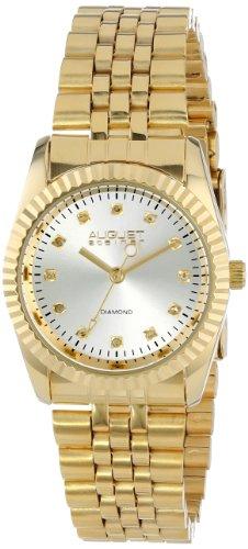 August Steiner Women's AS8046YG Diamond Stainless Steel Bracelet Watch