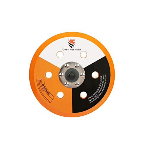 CHEN REFINISH Hook&Loop Face 6-Inch 6 Holes Thickness 10mm Low Profile Dual Action Sander Polishing Backing Pads Bevel Edge
