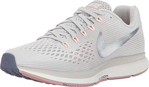 NIKE Womens Air Zoom Pegasus 34 Running Trainers 880560 Sneakers Shoes (UK 4.5 US 7 EU 38, Light Bone Chrome Grey 004)