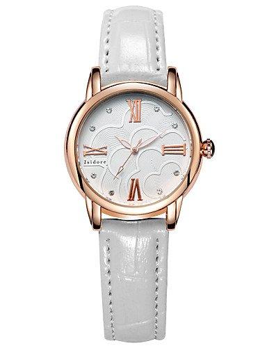 QFDZHS®agua cuero genuino relojes sencillos prueba de la mujer , black-for lady