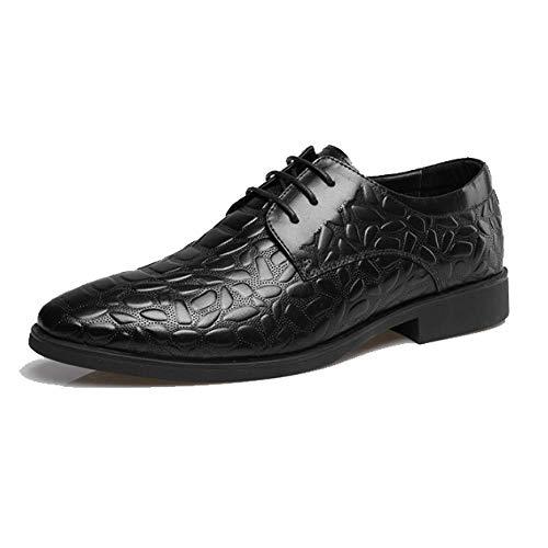 Primavera Ed Estate Fashion High-End Business Traspirante Scarpe da Uomo in Pelle Casual Scarpe Stringate Black