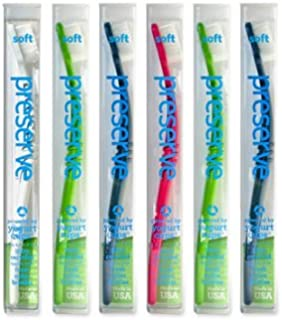 product image for Preserve 115279 Soft Toothbrush 6 Pack Assorted Colors