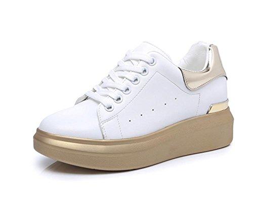 scarpe Ms scarpe single ascensore pattini casual pesante pizzo dell'allievo fondo scarpe focaccina scarpe primavera 448qT