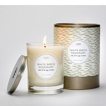 Amazon.com: White Birch Rosemary Kobo Soy Candle: Home & Kitchen
