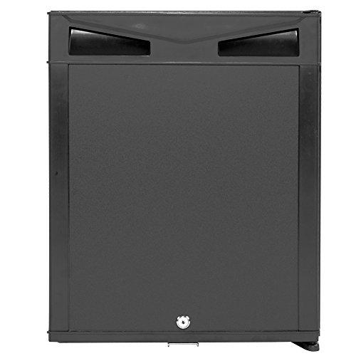 SMETA 2-Ways Minibar Absorption Portable Refrigerator with Lock 110v/12v - Refrigerator Black Electric