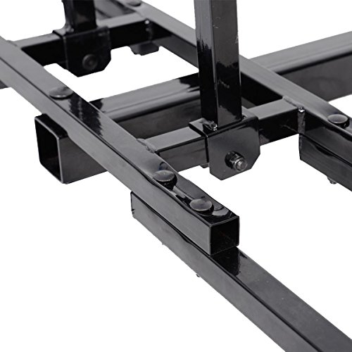 Super buy Upright Heavy Duty 2 Bike Bicycle Hitch Mount Carrier Platform Rack Truck SUV by Super buy (Image #5)