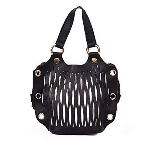 Paquet ZHRUI épaule Simple féminine Main Cordon Simple Diagonale Noir à Sac Femme Mode fq0xrf