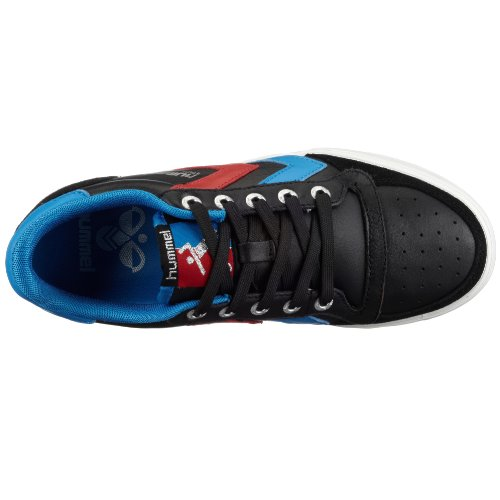 hummel STADIL LOW 63-064-2640 Unisex - Erwachsene Fashion Sneakers Schwarz (BLACK/BLUE/RED 2640)