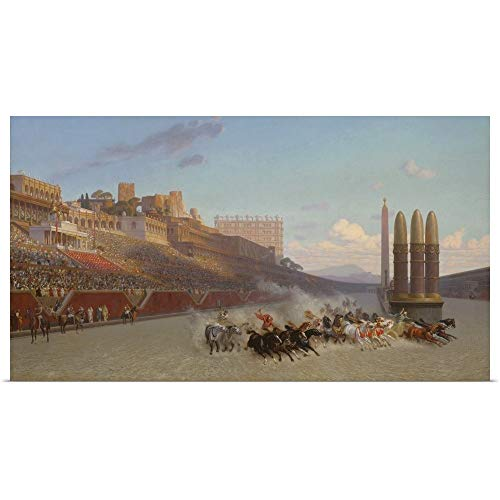 Great Big Canvas Poster Print Entitled Chariot Race, 1876 by Jean Leon Gerome 36