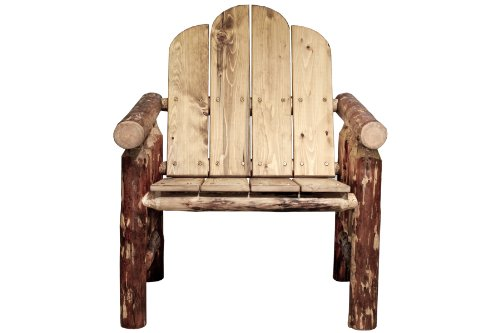 Butterfly Collection Rocking Chair - Montana Woodworks Glacier Country Collection Deck Chair, Exterior Finish