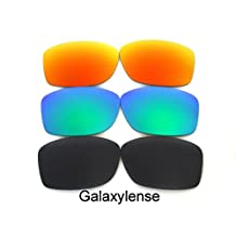 Replacement Lenses For Oakley Jupiter Squared Black&Green&Red Polarized 3PS