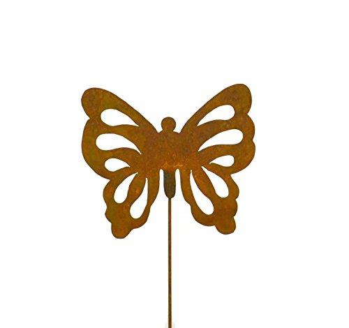 Butterfly Rusty Metal Garden Stake