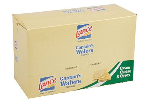 Lance Captain's Wafers Cream Cheese & Chives Sandwich Crackers [20-pack caddy] ()