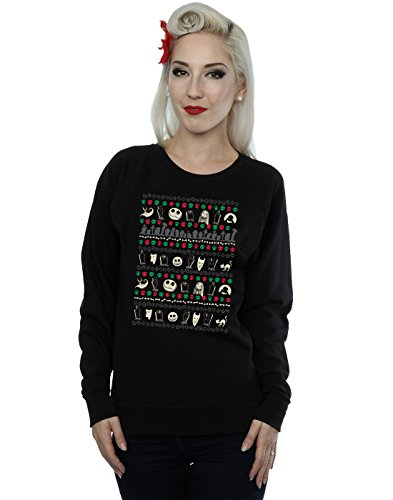 Disney Women's Nightmare Before Christmas Festive Icons Sweatshirt Medium Black