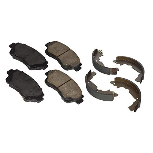 AutoDN Front and Rear Ceramic Brake Pads and Brake shoes 2SET For Toyota Sienna (Toyota Sienna Brake Shoe)