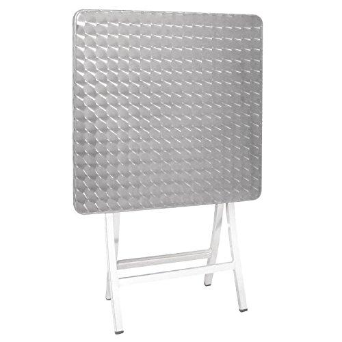 Bolero Aluminium Folding Bistro Table Square 600mm 720x600x600mm Patio
