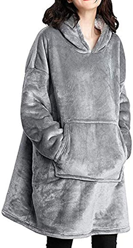 Sweat à Capuche Sherpa surdimensionné Couverture Ultra en