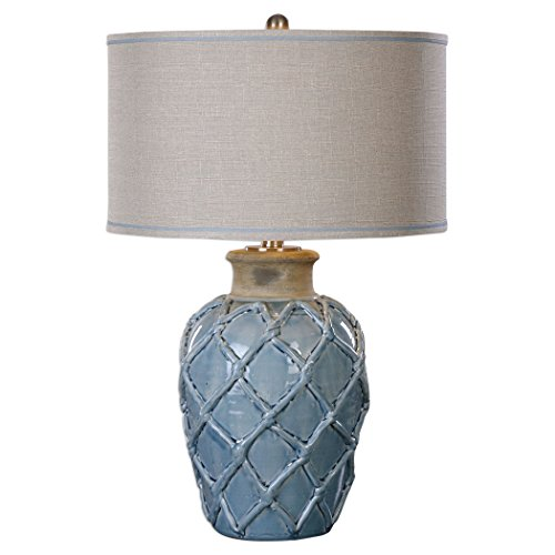 picture of Table Lamp in Pale Blue Finish