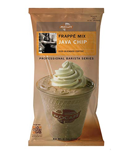 MOCAFE Frappe Java Chip Ice Blended Coffee, 3-Pound Bag Instant Frappe Mix, Coffee House Style Blended Drink Used in Coffee Shops