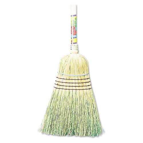 Boardwalk 932CCT Warehouse Broom Corn Fiber Bristles 42'' Wood Handle Natural