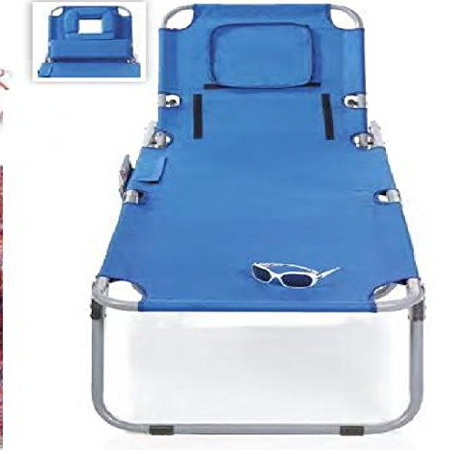 Blue Folding Massage Chaise Lounge