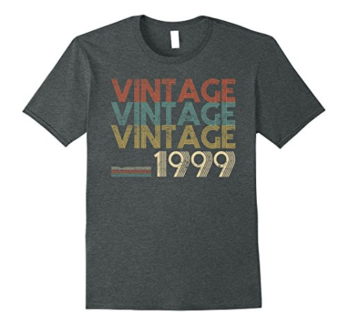 Mens Retro Classic Vintage 1999 - 19th Gift 19 Yrs Years Old Large Dark (1999 Gift)