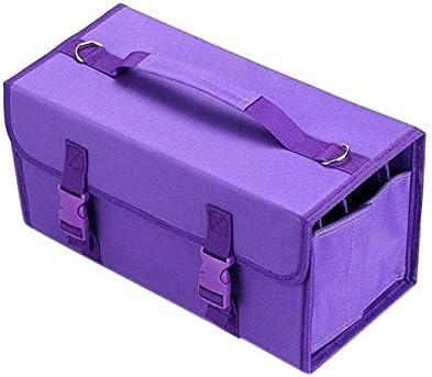 壊れない バッグの絵画2つのPCSマークタッチペンバッグスケッチ収納袋ホルダー、サイズ:60カラーペンケース(ブルー)。 (Color : Purple)