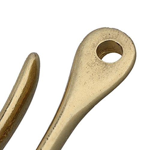 Solid Brass U Hook Key Chain Belt Wallet Clip Holder (72mm L ) Photo #3
