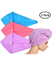 HOPESHINE Hair Drying Towel Twist Women's Soft Shower Microfiber Towels for Hair Turban Wrap Fast Drying Ultra Absorbent Cap Great Gift for Women