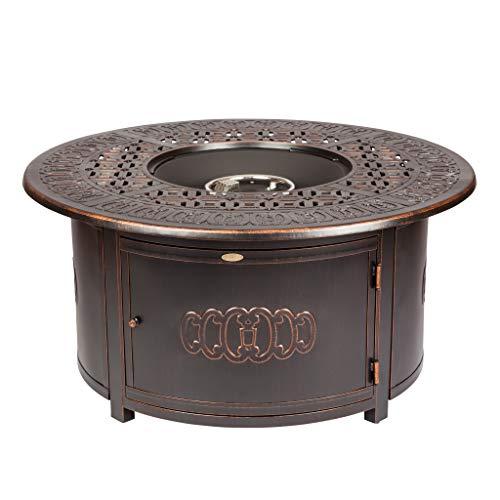 Fire Sense Dynasty Round Cast Aluminum LPG Fire Pit Antique Bronze 62262
