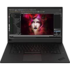 """Thin at 0.72"""" And weighing 3.76 pounds, The 15.6"""" Thinkpad P1 mobile workstation from Lenovo delivers power and mobility. It is driven by a 2.6 GHz Intel Core i7-8850H Six-Core processor which allows you to run multiple applications simultane..."""