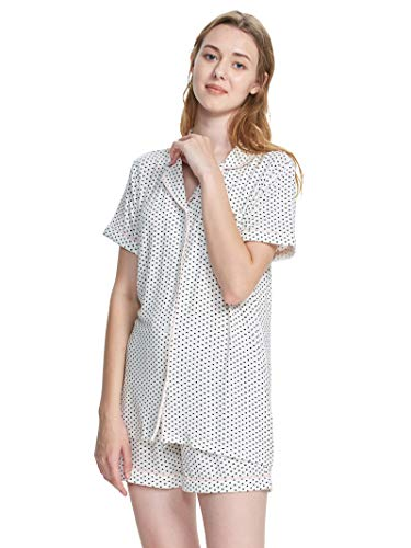 SIORO Women's Pajamas Long Sleeve/Short Sleeve Sleepwear Soft PJ Set Loungewear S-XL Two Piece Pajama Set