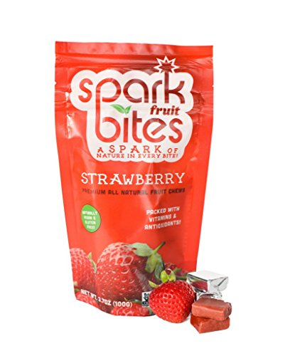 Spark Fruit Bites Strawberry Premium All Natural Fruit Chews 3.5oz pouch