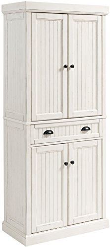 Crosley Furniture Seaside Kitchen Pantry Cabinet - Distressed White ()