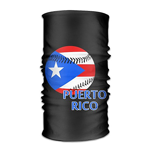 Price comparison product image CMEY Puerto Rico Baseball Multifunctional Bandana Elastic Turban Headwear Headscarf