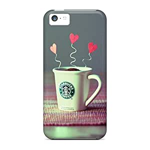 Durable Defender Case For Iphone 5c Tpu Cover(starbucks Creative Beauty Hd)