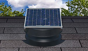 front facing natural light florida rated solar attic fan
