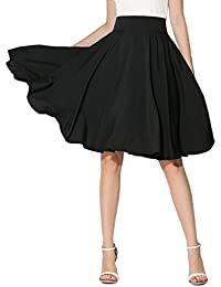 Women's Pink/BlackBlue/White Solid High Waist Trumpet Midi Skirt (10 Colors)